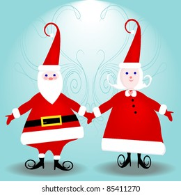 Mr. & Mrs. Santa Claus ready for your text