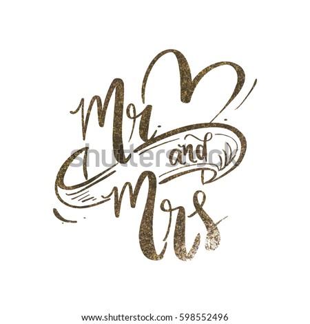 mr mrs wedding backdrop design gold stock vector royalty free