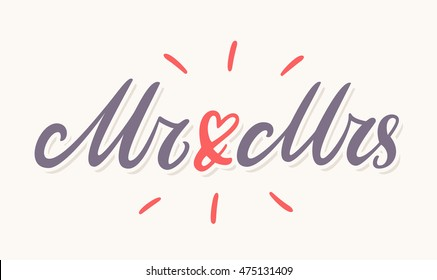 Mr and Mrs. Wedding banner.