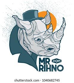 mr. rhino t shirt / poster design