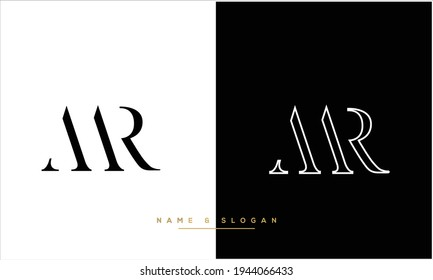 MR ,RM Abstract Letters Logo Monogram
