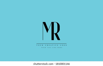 MR RM abstract vector logo monogram template