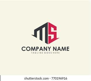 MS initial letter logo design