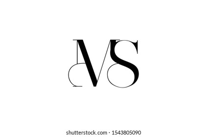 MS Letter Logo Design with Creative Modern Trendy Typography