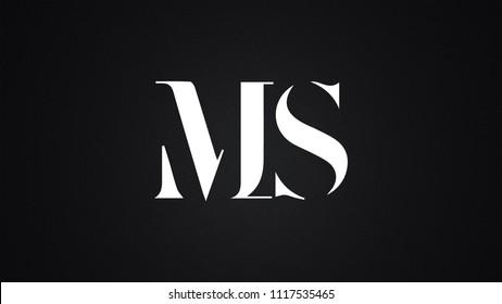 MS Letter Logo Design Template Vector