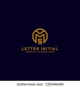MS letters Initial icon / Monogram.- Inspiration logo design vector - Vector