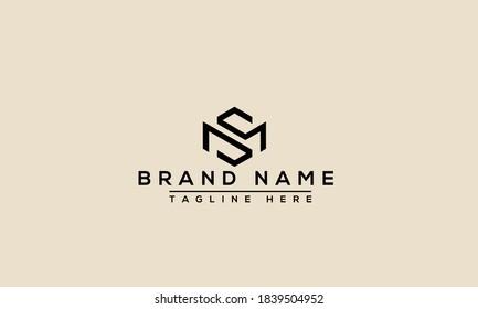 MS Logo Design Template Vector Graphic Branding Element.