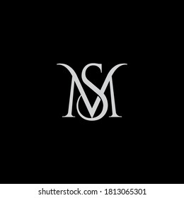 MS logo design. Vector illustration.