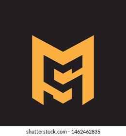 MS monogram ver.2 design letter based logo.