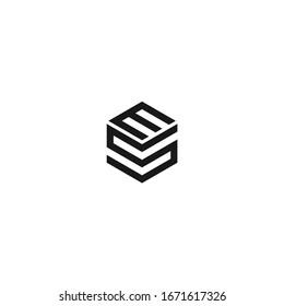 MS SM ES ES Letter Logo Design Creative Modern Letters Vector Icon Logo Illustration