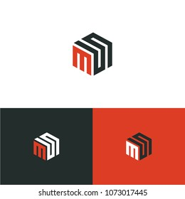MS, SM Vector Letter base logo