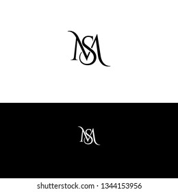 M,S vector logo design. MS monogram . Vector