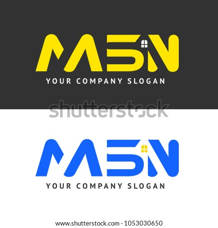msn logo template vector business identity stock vector royalty