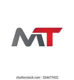 MT company linked letter logo