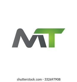 MT company linked letter logo green