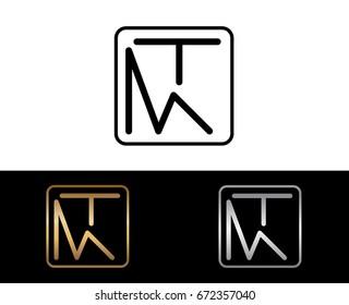 MT initial box shape Logo designs template
