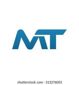 MT initial company blue swoosh logo