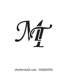 MT initial monogram logo