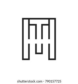 MT letter logo