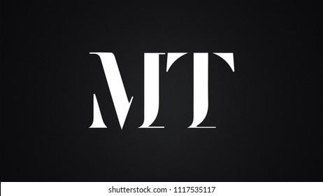 MT Letter Logo Design Template Vector