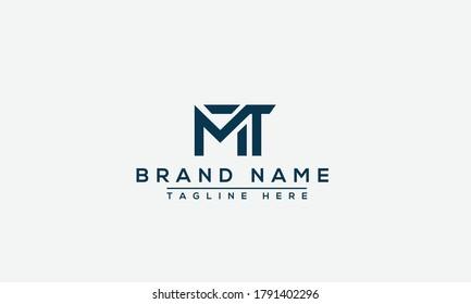 MT Logo Design Template Vector Graphic Branding Element.