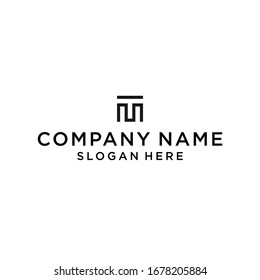 mt logo icon design vector