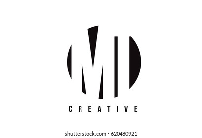 MT M T White Letter Logo Design with Circle Background Vector Illustration Template.