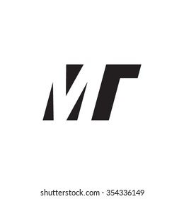 MT negative space letter logo