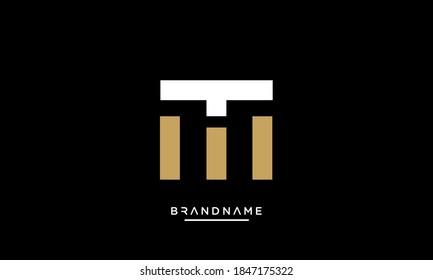 MT, TM Abstract Letters Logo Emblem Monogram
