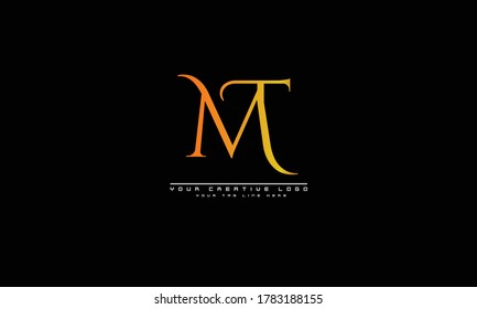 MT TM abstract vector logo monogram template