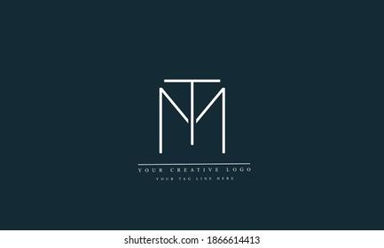 MT TM M T abstract vector logo monogram template