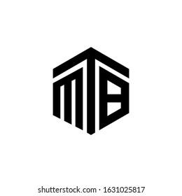 MTB Letter Logo Design polygon Monogram Icon Vector Template