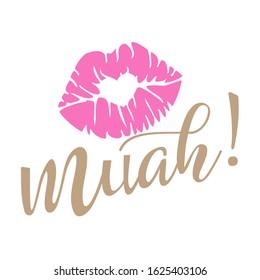 Muah Kiss Summer Clipart Vector files