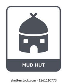 mud hut icon vector on white background, mud hut trendy filled icons from Culture collection, mud hut simple element illustration