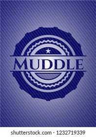 Muddle jean background