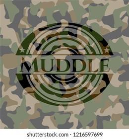 Muddle on camo texture