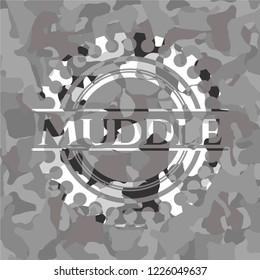 Muddle on grey camo texture