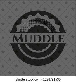 Muddle retro style black emblem