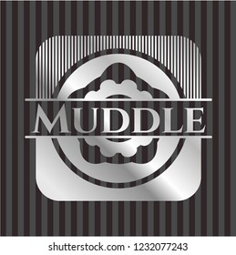 Muddle silvery badge