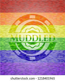 Muddled lgbt colors emblem