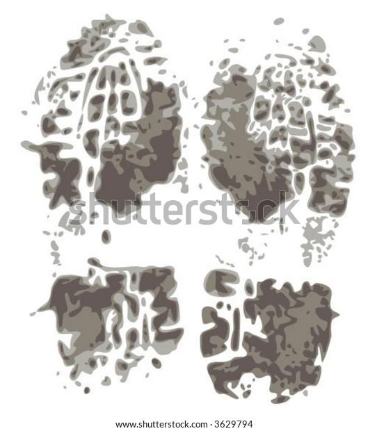 muddy footprints