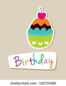 muffin birthday card