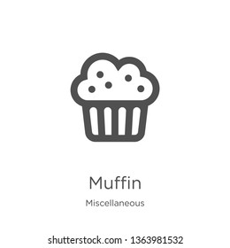 muffin icon. Element of miscellaneous collection for mobile concept and web apps icon. Outline, thin line muffin icon for website design and mobile, app development
