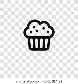 muffin icon from miscellaneous collection for mobile concept and web apps icon. Transparent outline, thin line muffin icon for website design and mobile, app development