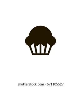 muffin icon. sign design