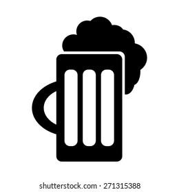mug of beer with foam head