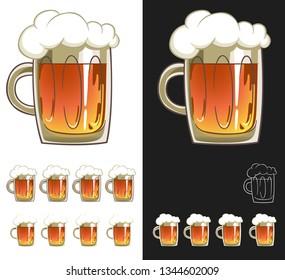 Mug Of Beer Full With Foam Vector