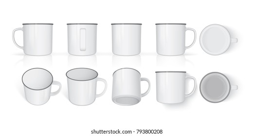 mug from different sides Mock Up Vector Template