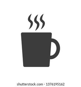 Mug flat icon on white background. Vector illustration