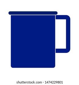 mug icon. flat illustration of mug vector icon. mug sign symbol